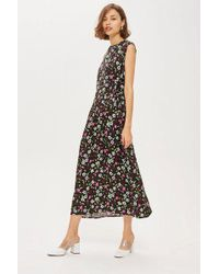 TOPSHOP - ditsy Print Midi Dress By Boutique - Lyst
