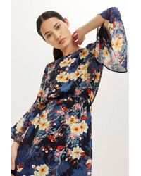 TOPSHOP - Floral Print Skater Dress By Yas - Lyst