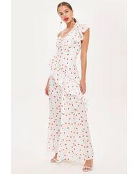 TOPSHOP - Spot Maxi Dress - Lyst