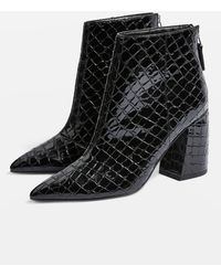 TOPSHOP - Houston Ankle Boots - Lyst
