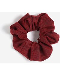 TOPSHOP - Red Check Scrunchie - Lyst