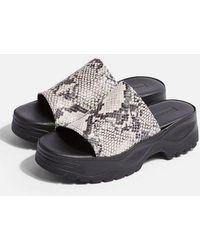 TOPSHOP - Volt Chunky Sandals - Lyst