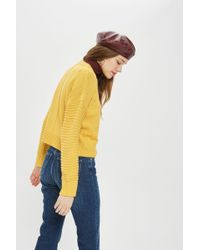 TOPSHOP - Tall Stitch Detail Jumper - Lyst