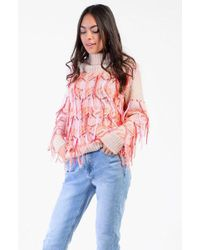 Glamorous - multi Fringed Knitted Jumper By - Lyst