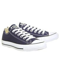 Converse - all Star Low Leather Trainers By - Lyst