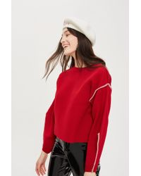 TOPSHOP - Bold Sleeve Sweater - Lyst