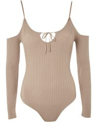 Wyldr - Iron Sky Beige Ribbed Body By - Lyst