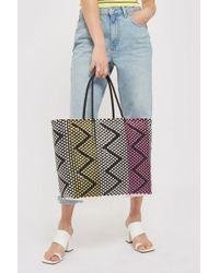 TOPSHOP - Peter Woven Shopper Bag - Lyst