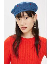3985796d719 TOPSHOP Girly Zig Zag Beanie Hat - Lyst