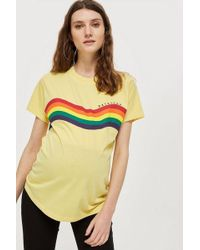 TOPSHOP - maternity Daydreamer Rainbow Top - Lyst