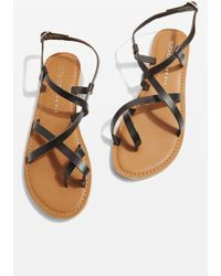 TOPSHOP - Wide Fit Hiccup Sandals - Lyst