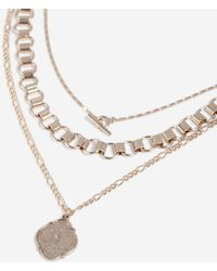 TOPSHOP - Coin T-bar Multi Row Necklace - Lyst