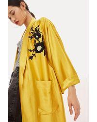 TOPSHOP - Tall Embroidered Kimono - Lyst