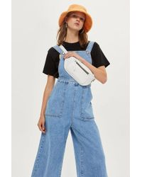 TOPSHOP - Wide Cropped Leg All In One - Lyst