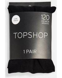 TOPSHOP - 120 Denier Tights - Lyst
