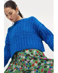TOPSHOP - Chenille Cropped Jumper - Lyst