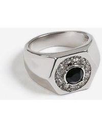 TOPSHOP - hexagon Stone Set Ring - Lyst
