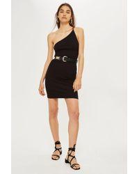 TOPSHOP - One Strap Mini Dress - Lyst