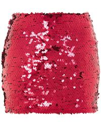 Jaded London - Red Heart Sequin Embellished Mini Skirt By - Lyst