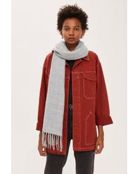 TOPSHOP - Supersoft Fringe Scarf - Lyst