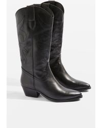 TOPSHOP - Devious Western Boots - Lyst