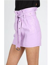 Honey Punch - lavender Leather Skirt By - Lyst