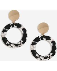 TOPSHOP - marble Resin Drop Earrings - Lyst