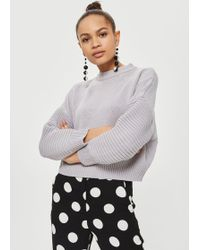 TOPSHOP - Petite Stitch Detail Sweater - Lyst