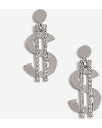 3ad0f5134 TOPSHOP Fluffy Drop Earrings in Black - Lyst