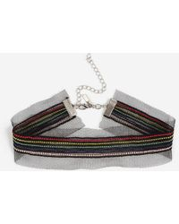TOPSHOP - Mesh Rainbow Choker Necklace - Lyst