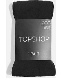 TOPSHOP - 200 Denier Tights - Lyst