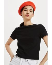 TOPSHOP - Basic Cropped T-shirt - Lyst