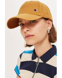 TOPSHOP - Logo Baseball Cap By Champion - Lyst