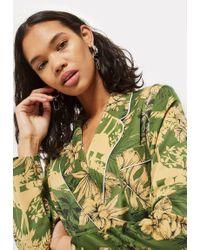 TOPSHOP - Tropical Pyjama Jacket - Lyst