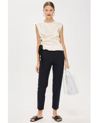 TOPSHOP - High Waisted Cigarette Trousers - Lyst