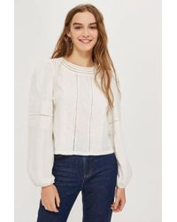 TOPSHOP - Trim Balloon Sleeve Top - Lyst