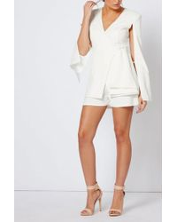 Club L - White Tailored Shorts By - Lyst