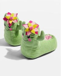 TOPSHOP - Cactus Slippers - Lyst