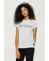 TOPSHOP - Silicon Logo T-shirt By Ivy Park - Lyst