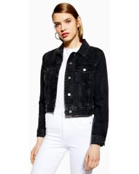 TOPSHOP - Fitted Denim Jacket - Lyst