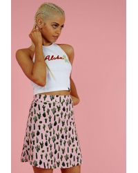Illustrated People - cactus A-line Skirt By - Lyst