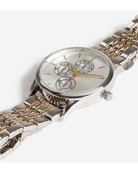 TOPSHOP - mixed Metal Link Watch - Lyst