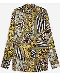 Jaded London - Animal Clash Print Shirt By - Lyst
