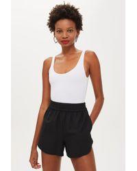 TOPSHOP - Textured Scoop Bodysuit - Lyst