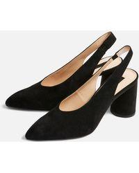 TOPSHOP - Slingback Shoes - Lyst