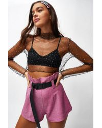 Jaded London - pink Paperbag Waist Hot Trousers By - Lyst