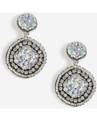 TOPSHOP - Beaded Glitter Drop Earrings - Lyst