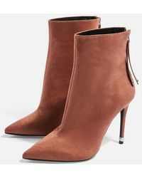 TOPSHOP - Wide Fit Ella Pointed Boots - Lyst