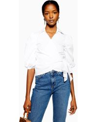 aa1d1ebdaf2aae Women's TOPSHOP Blouses On Sale - Lyst