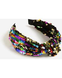TOPSHOP - Sequin Knot Alice Band - Lyst